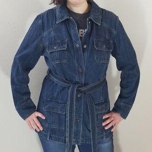 Old Navy Long Jean Jacket Size XL